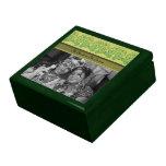 Flor de Paisley (verde) Cajas De Joyas