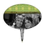 Flor de Paisley (verde) Palillos De Tarta