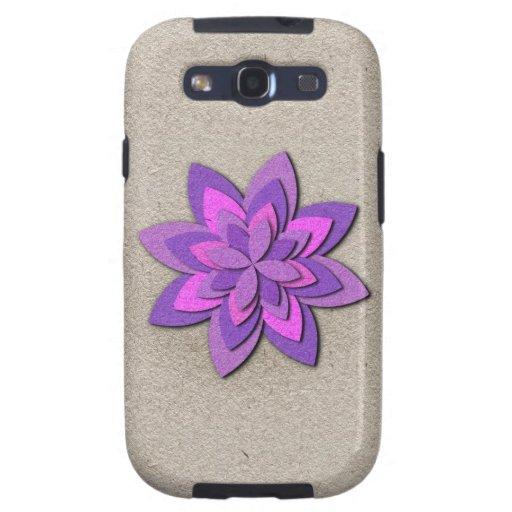 Flor de papel púrpura y rosada galaxy s3 cobertura