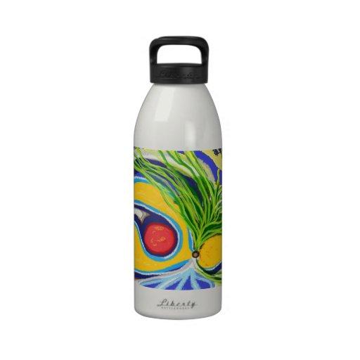 Flor de paraíso botella de agua reutilizable
