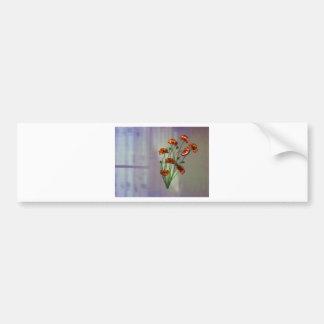 Flor de pared con el fondo texturizado del color pegatina para auto