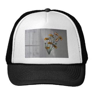 Flor de pared en oro gorras