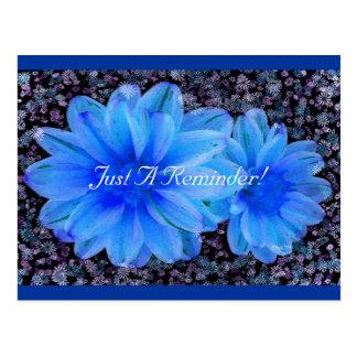 Flor de pared postal
