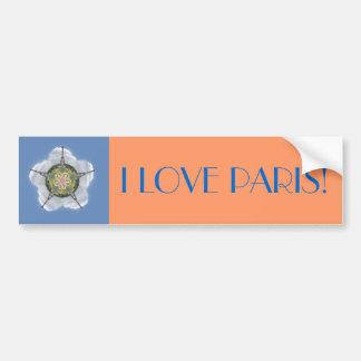 Flor de París Pegatina De Parachoque