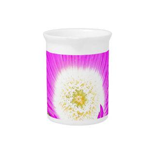 Flor de Pigface de las rosas fuertes en la floraci Jarras Para Bebida