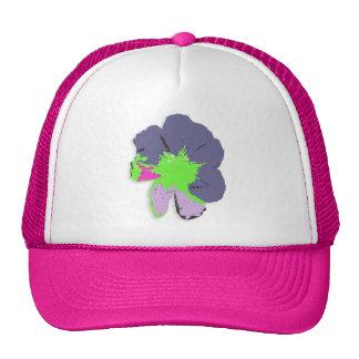 Flor de PopArt del chapoteo del color en el gorra