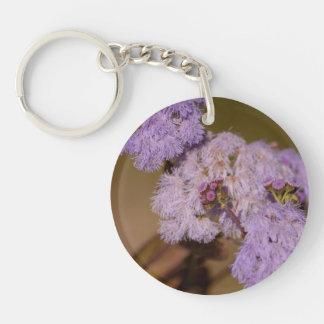 Flor de punta púrpura; Ningún texto Llavero Redondo Acrílico A Una Cara