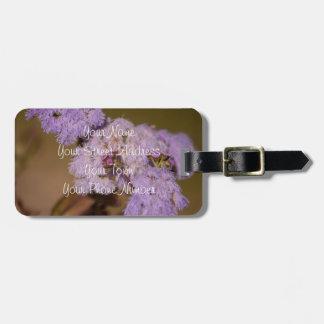 Flor de punta púrpura; Personalizable Etiquetas Maletas