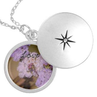 Flor de punta púrpura; Personalizable Pendientes