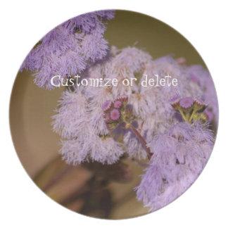 Flor de punta púrpura; Personalizable Platos