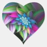 Flor de Rainbo Calcomanía De Corazón Personalizadas