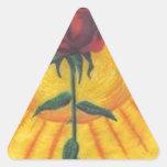 flor de rose.PNG Sun Calcomanías De Triangulos Personalizadas