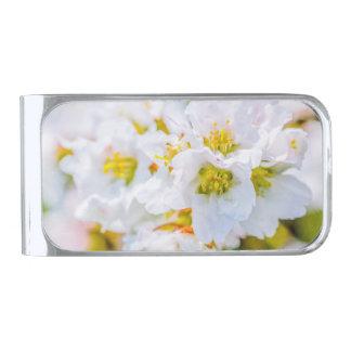 Flor de Sakura Clip Para Billetes Plateado