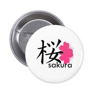 Flor de Sakura Pin Redondo 5 Cm