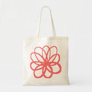 Flor de Spontanious - rosa tropical Bolsa Tela Barata
