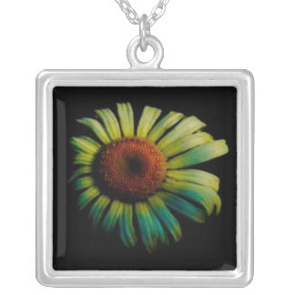 Flor de Sun Colgante Cuadrado