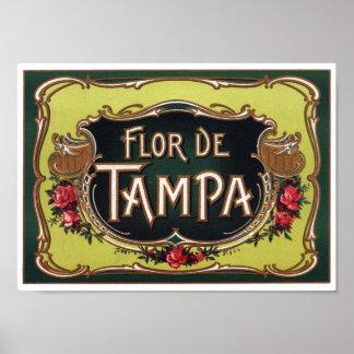 Flor de Tampa Cigar Label Posters