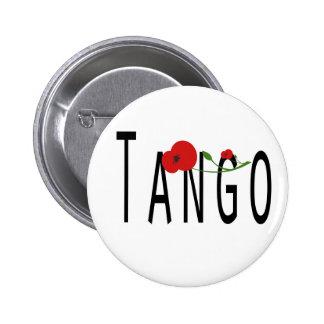 Flor de Tango Pin Redondo De 2 Pulgadas