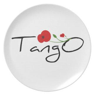 Flor de Tango Plate