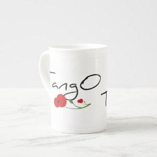 Flor de Tango Taza De Porcelana