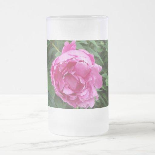 Flor de Think Pink Taza Cristal Mate