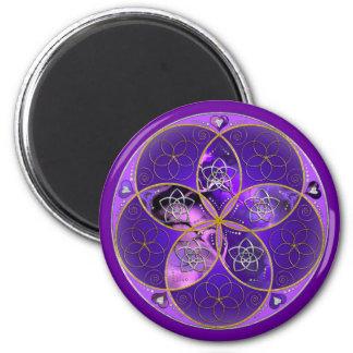Flor de Venus del rosa violeta del fineART del amo Imanes