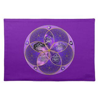 Flor de Venus del rosa violeta del fineART del amo Manteles Individuales