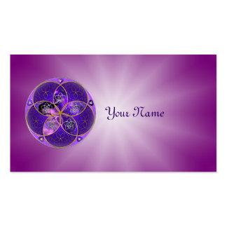Flor de Venus del rosa violeta del fineART del amo Plantillas De Tarjeta De Negocio
