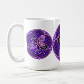 Flor de Venus del rosa violeta del fineART del amo Tazas