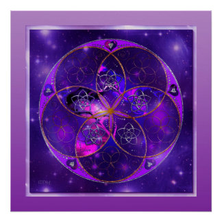 Flor de Venus del universo del fineART del amor Impresiones