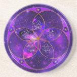 Flor de Venus del universo del fineART del amor Posavasos Diseño