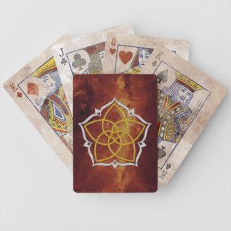 FLOR de VENUS/PLATA del ORO de Venusblume Lotus Baraja Cartas De Poker