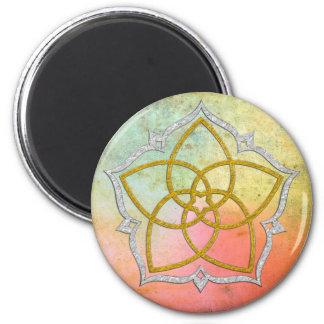 FLOR de VENUS/PLATA del ORO de Venusblume Lotus Imán