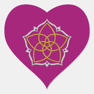 FLOR de VENUS/PLATA del ORO de Venusblume Lotus Calcomanía De Corazón Personalizadas
