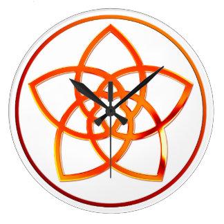 FLOR de VENUS/Venusblume - metal rojo Reloj De Pared