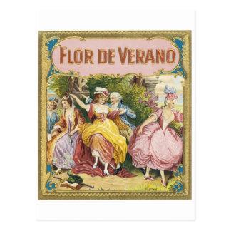 FLOR DE VERANO VINTAGE ART POSTER POSTCARD