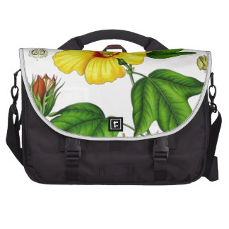 Flor del algodón bolsas de portátil