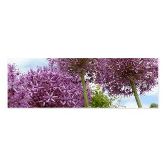 Flor del allium tarjeta de visita