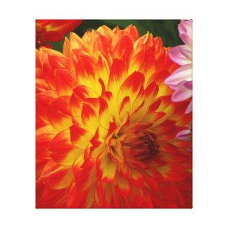 Flor del amarillo anaranjado impresion en lona