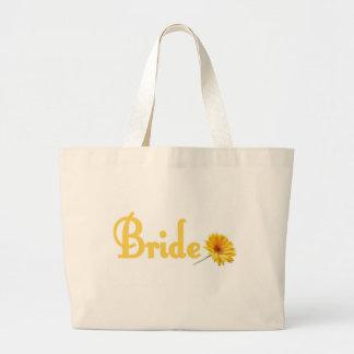 Flor del amarillo de la bolsa de asas de la novia