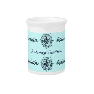 Flor del amor (alheña) (azul) jarras de beber