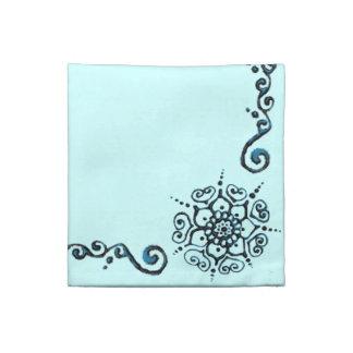 Flor del amor (alheña) (azul) servilletas de papel