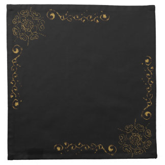 Flor del amor (alheña) (de oro) servilleta de papel