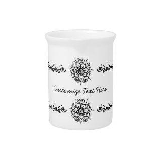Flor del amor (alheña) jarras para bebida