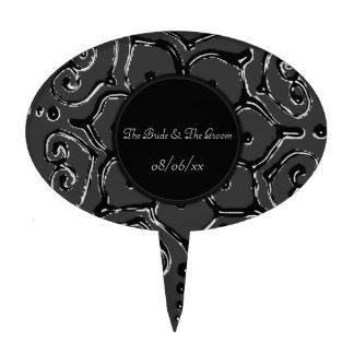 Flor del amor (alheña) (plata/efecto) decoración para tarta