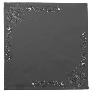 Flor del amor (alheña) (plata/efecto) servilleta