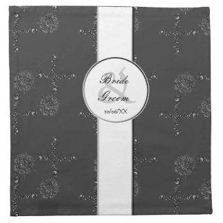 Flor del amor (alheña) (plata/efecto) servilleta de papel