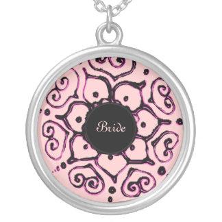Flor del amor (alheña) (rosa) colgante
