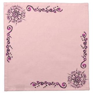 Flor del amor (alheña) (rosa) servilletas