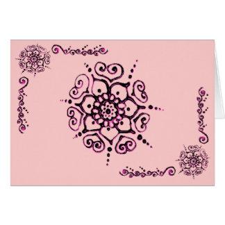 Flor del amor (alheña) (rosa) tarjeta de felicitación